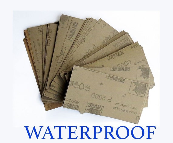 "WATERPROOF SANDPAPER  28 pc 3/"" X 5 1//2/"" 400//600//800//1000//1200//1500//2000 Grit"