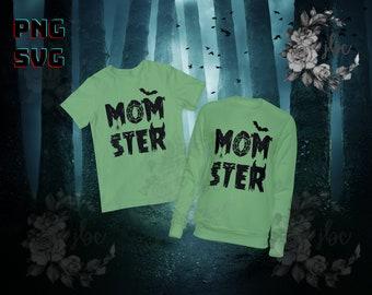 MOMSTER | I'm a Momster! | I'm a Monster! | SVG PNG  | Silhouette | Cricut | Vector Images | Digital Downloads | Halloween Shirts