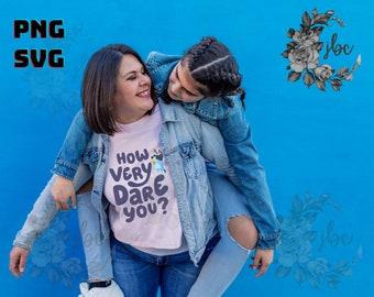 Bluey SVG PNG | How Very Dare You? | Mum School | Silhouette | Cricut Design | Vector Images | Digital Downloads | Bluey Shirt | Blue Heeler