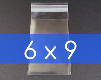 10 - 50 6x9 inch Clear Poly Cello Bag  Self Sealable OPP Product Bag Plastic Packaging