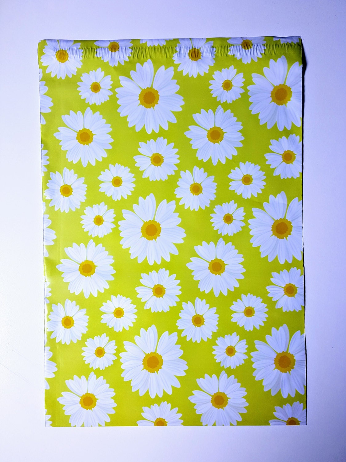 200 10x13 inch yellow daisy flower design color poly mailer etsy zoom izmirmasajfo