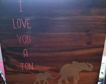Elephant Wooden Nursery Sign