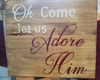 Christmas Holiday Wooden Sign