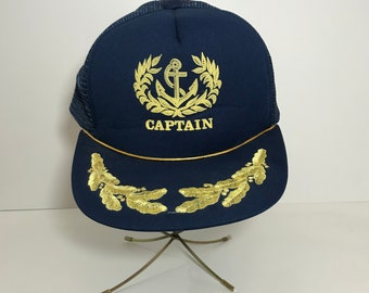 95216045038 Vintage Captain Trucker Hat