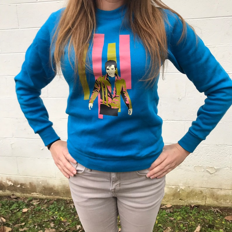 Vintage Lee Blue Elvis Sweatshirt