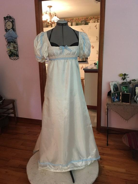 Size 12-14 Regency Dress Regency Gown High Waisted Jane Austen Dress Pride and Prejudice