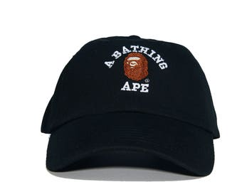 7625c825a933 A BATHING APE Embroidered Dad Hat (AAPE bbc bape ape bapesta )