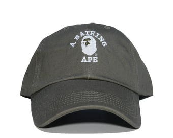 A BATHING APE Embroidered Dad Hat (AAPE bbc bape ape bapesta supreme ) 41f406fd0db
