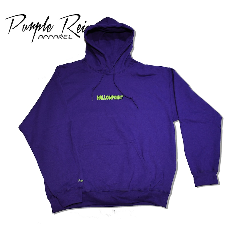 9191031f2839 Purple Reign HALLOWPOINT Embroidered Hoodie
