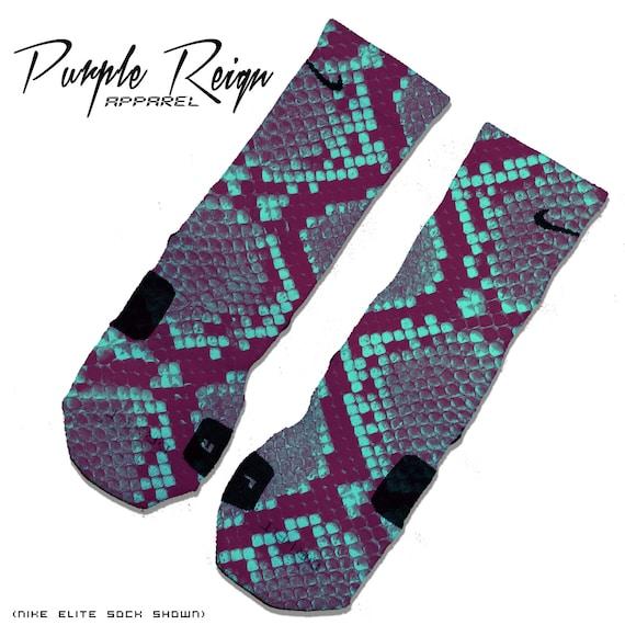 Purple Reign GG Foamposite Custom Premium Socks