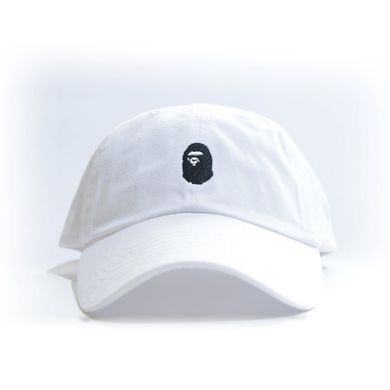 6d7fb6c8e94 BAPE Embroidered Dad Hat AAPE BBC bathing ape bapesta