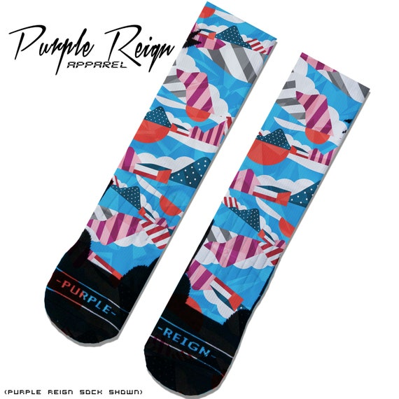 reasonable price new release new arrivals Chaussettes de Purple Reign Nike AIR MAX 1 « PARRA » Spiridon personnalisé  Premium