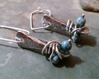 Forged Lapis Earrings