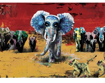 CHARGE! Limited Edition Lithograph Print 36x24 signed by the artist, Blacky  *** ADVANCE ORDER! ***