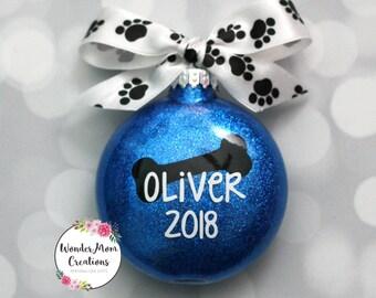 Dog Bone Personalized Christmas Ornament; Dog Christmas Ornament; Puppy Christmas Ornament; Pet Personalized Christmas Ornament; New Dog