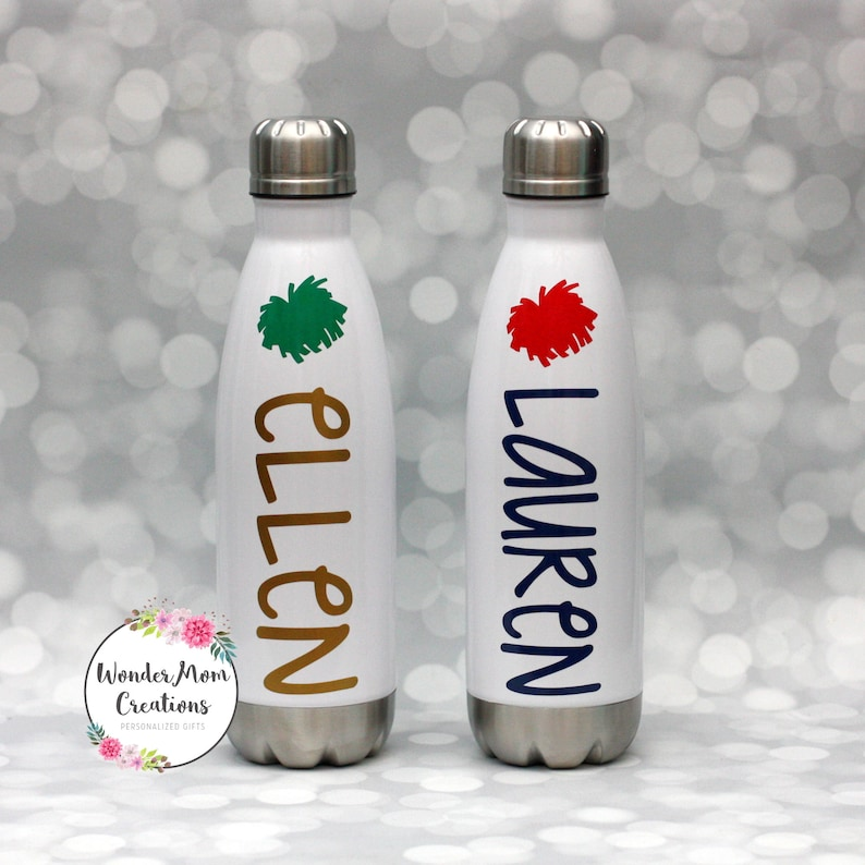 Cheerleader Pom Pom Vacuum Sealed Water Bottle