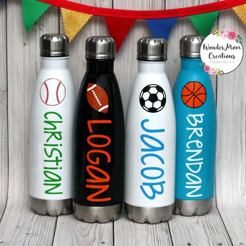 Sports Theme Vacuum Sealed Water Bottle