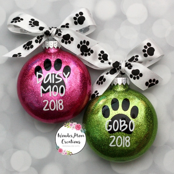 Paw Print Christmas Ornament; Personalized Paw Print Ornament; Pet Name Christmas  Ornament; Dog Christmas Ornament; Cat Christmas Ornament - Paw Print Christmas Ornament Personalized Paw Print Ornament Etsy