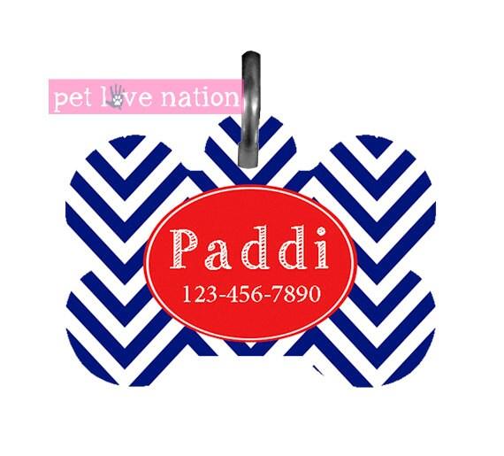 Red Chevron Pet Tag
