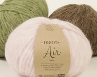 DROPS Air, alpaca, wool yarn, aran weight