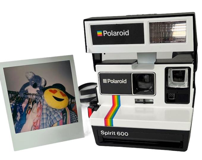 Upcycled White Rainbow Polaroid Spirit 600