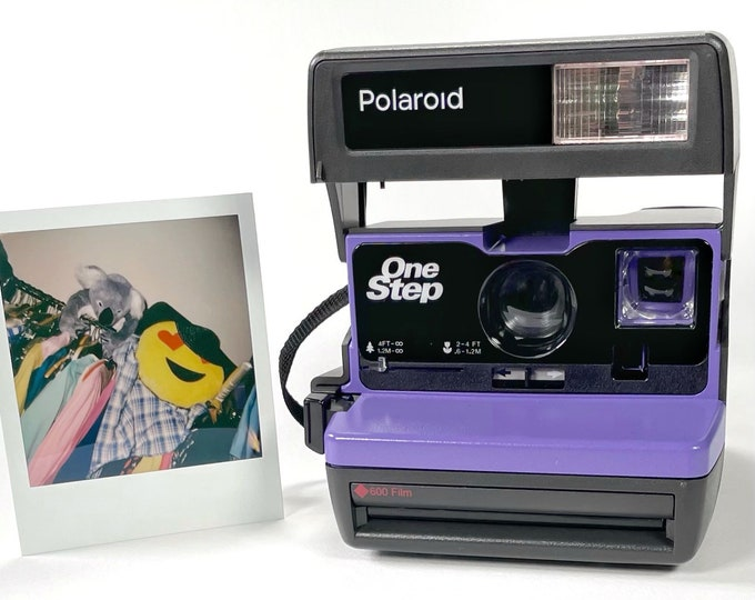 Upcycled Purple Polaroid 600 OneStep - Refreshed, Cleaned, Tested, and Ready For Fun