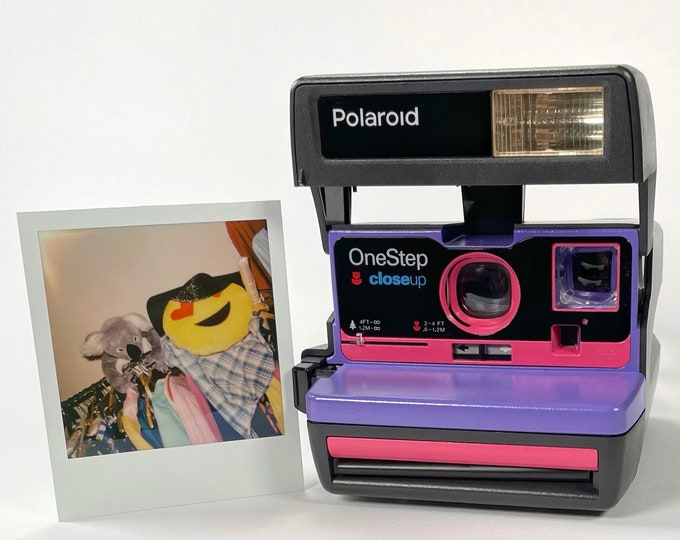 Purple & Pink Polaroid 600 OneStep - Refreshed, Cleaned, Tested, and Ready For Fun