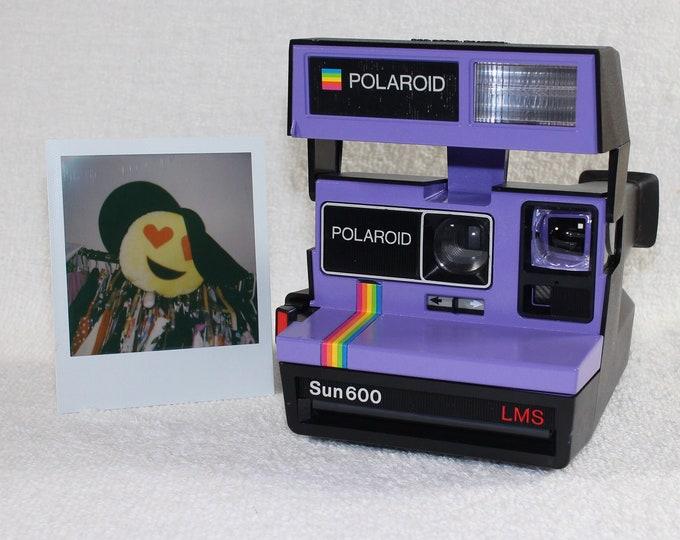 Fun Rainbow Polaroid Sun 600 - Upcycled Purple