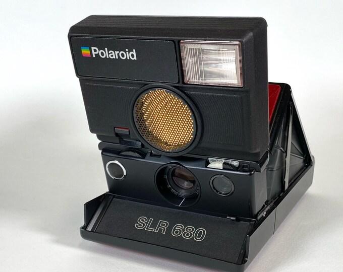 Rebuilt Wine Red skinned Polaroid SLR 680 Camera with new 3D Printed Upper Housing