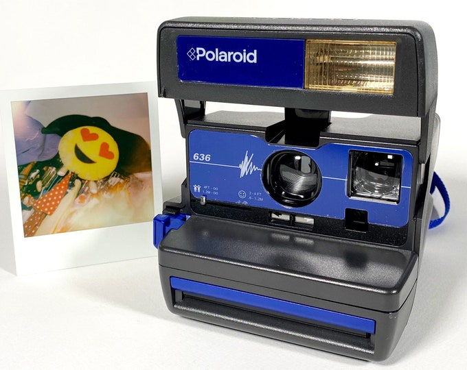 Polaroid Special Edition Blue 636 - refreshed, works great, with warranty