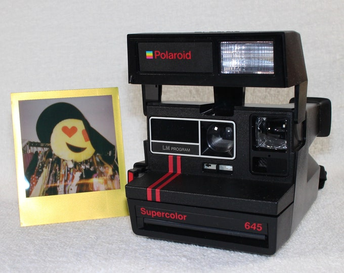 Original Dual Stripe Polaroid Supercolor 645 - Works Great, Tested and Cleaned