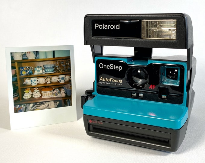Refreshed Turquoise Polaroid Autofocus 600 - Works and Looks Great
