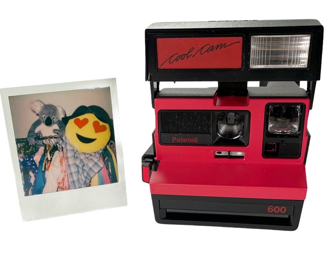 Polaroid Original Red CoolCam 600 Camera - Tested, Repaired, Cleaned, now ready for fun
