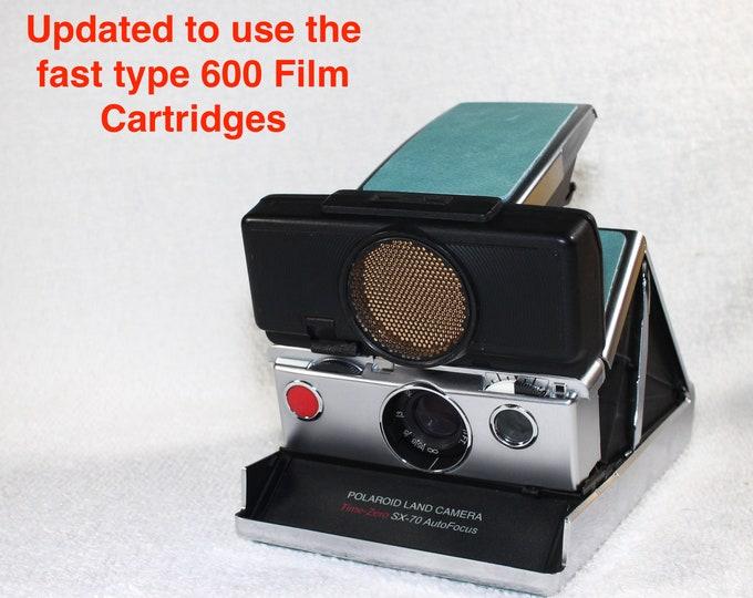 Rebuilt Polaroid SX70 Sonar Autofocus  - Updated to use 600 Film Cartridges and New Mint Skins