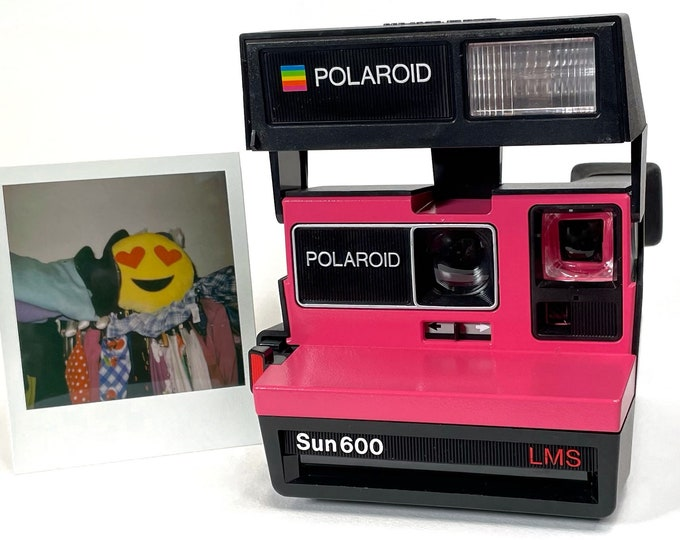 Polaroid Sun 600 with Upcycled Pink face - Refreshed, Cleaned and Tested