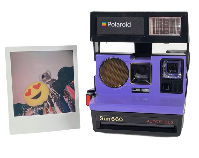 Polaroid 660 AutoFucus Upcycled Purple - Cleaned, Refreshed and Ready for Fun