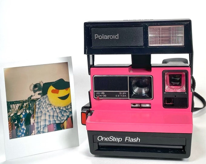 Polaroid Sun 600 Pro With Upcycled Pink Face - Refreshed and Ready for Fun