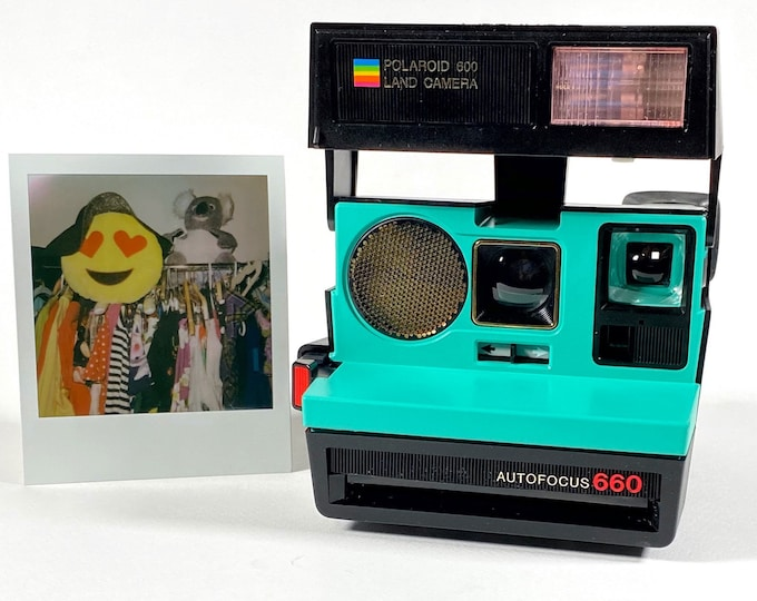 Polaroid 660 Sonar AutoFucus Upcycled Retro Green - Refreshed, Cleaned, Tested and Ready for Fun