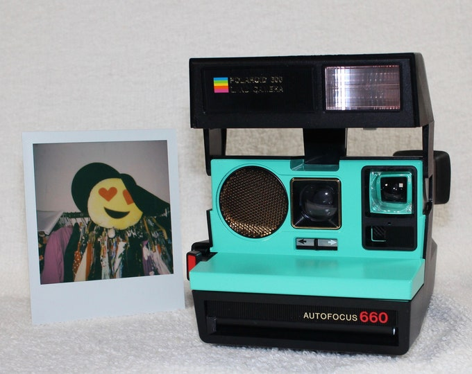 Polaroid 660 Sonar AutoFucus Upcycled Retro Green - Cleaned, Tested and Ready for Fun