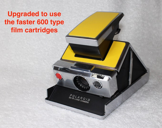 SX70 Model 1 - Rebuild, New Yellow Skins, Updated to use 600 Type film cartridges