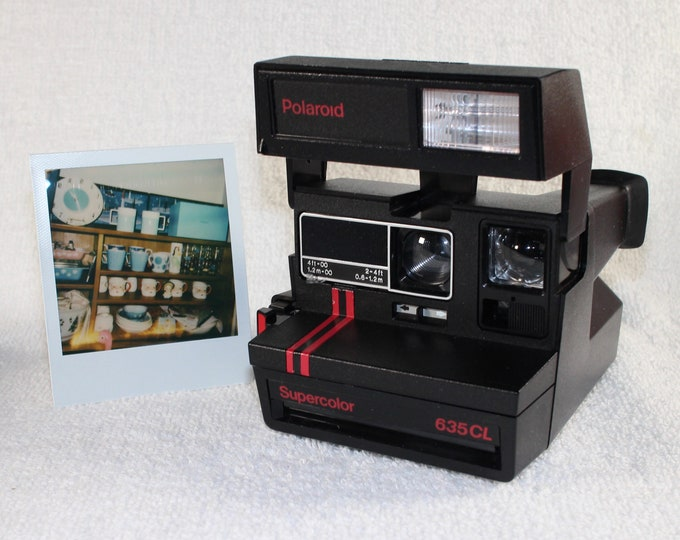 Original Dual Stripe Polaroid Supercolor 635CL with Close Up - Works Great, Tested and Cleaned