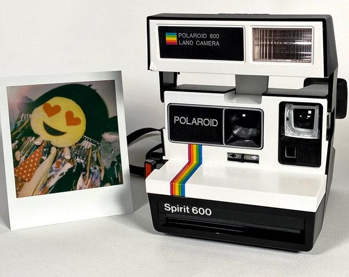 Fun Rainbow Polaroid Spirit 600 - Upcycled White