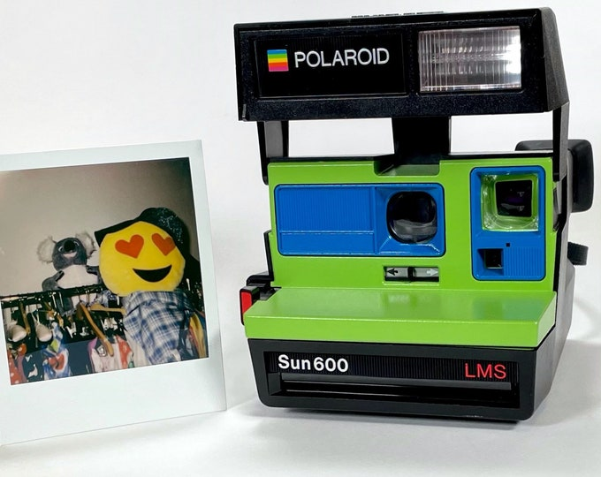 Polaroid Sun 600 with Upcycled Pistachio Green and Blue - Refreshed, Cleaned and Tested