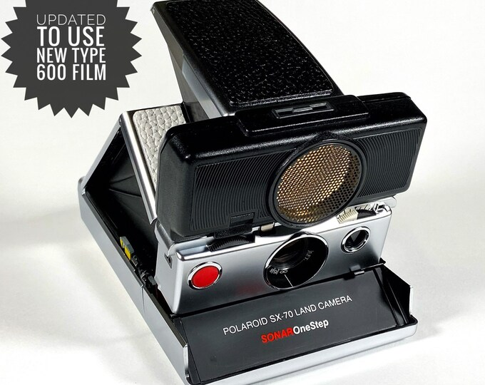 Rebuilt Polaroid SX70 Sonar Autofocus  - Updated to use 600 Film Cartridges and New Black & White Skins