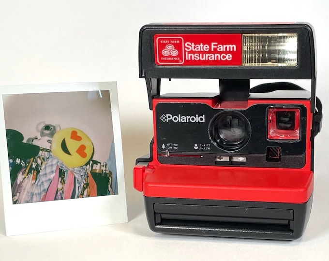 Original Fully Working State Farm Business Edition 2.0 Polaroid 600 OneStep With Close Up And Flash Built-In