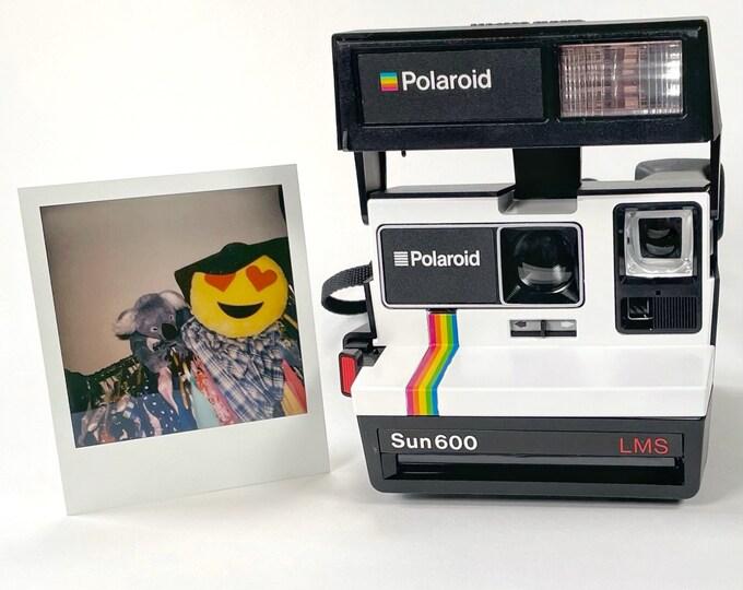 Upcycled White Rainbow Polaroid Sun 600