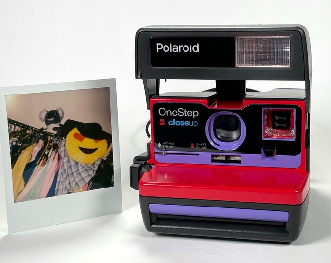 Red & Purple Polaroid 600 OneStep - Refreshed, Cleaned, Tested, and Ready For Fun