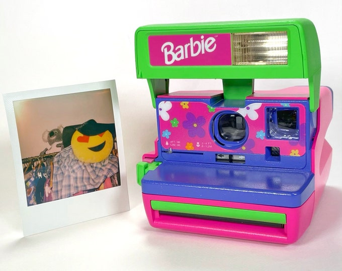 Upcycled Barbie Polaroid With Extra Sparkle - Built-In Close Up And Flash