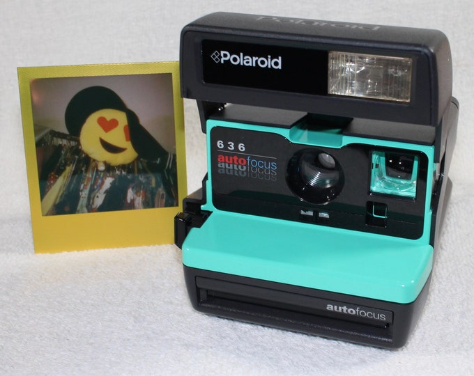 Retro Green Polaroid Autofocus 600 - Cleaned, Tested - Works and Looks Great