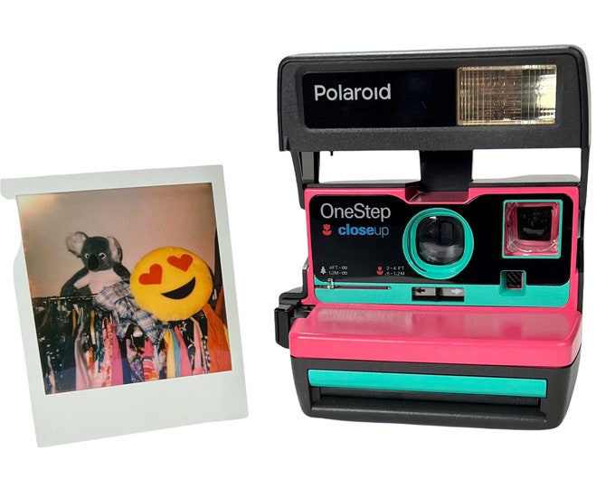 Upcycled Pink and Retro Green Polaroid 600 OneStep - Refreshed, Tested, and Ready For Fun